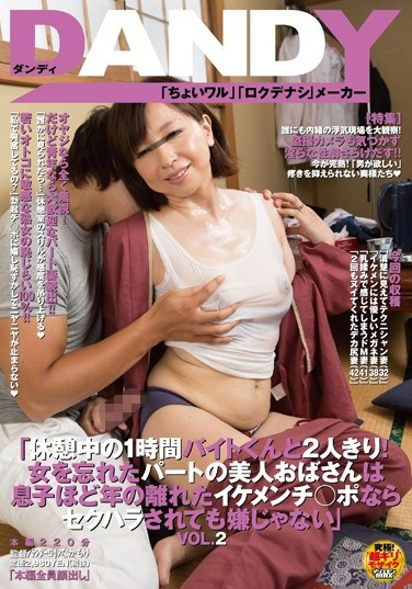 """[DANDY-456] """"Alone With A Part-timer Guy!"""" Part-timer MILF Doesn't Mind Getting Sexually Harassed By A Young, Good-looking Guy's Penis! vol. 2"""