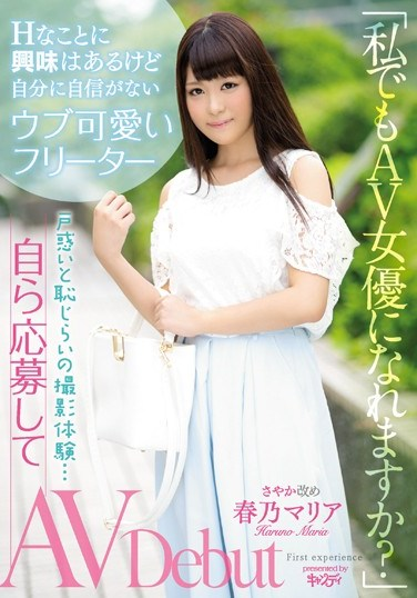 """[CND-186] """"So Even I Can Become An AV Actress?"""" This Innocent And Cute Freelancer Is Interested In Sex, But Not Very Confident In Herself, As She Makes Her Bashful Debut… She Volunteered For Her AV Debut Maria Haruno"""
