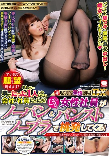 [KAM-061] Unrealistic Daydream Cinema DX – We Make Your Dreams Come True! What If You Were The Only Male Employee At A Company? And What If All Your Female Colleagues Weren't Wearing Panties Or Stockings? They'll Even Seduce You With No Bra!