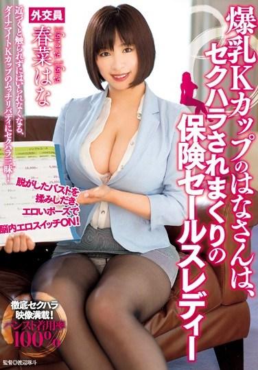[TAAK-015] Hana Has K Cup Colossal Tits And She's A Sexual Harassment Life Insurance Sales Lady Hana Haruna