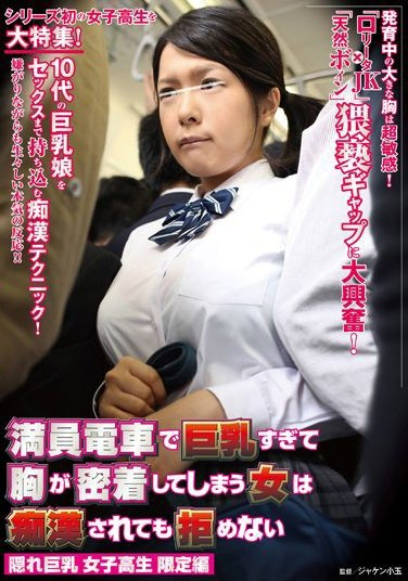 NHDTA-336 Slut can't help but showing off her tits on a crowded train and gets Molested: Busty Schoolgirl Limited Edition