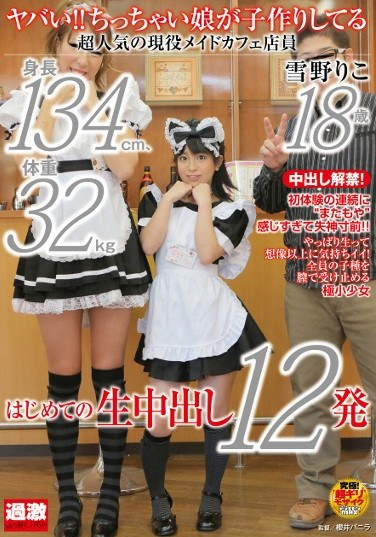 NHDTA-368 Wow! A Little Girl Is Making Babies. A 134cm, 32kg, Extremely Popular Maid Cafe Worker Riko Yukino 18 Years Old. Her First Creampies, 12 Shots