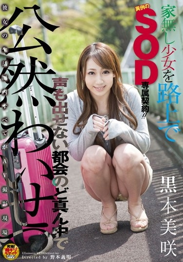 SDMT-756 Homeless Barely Legal Girl Gets Scouted by SOD and Gets Fucked in the Park Misaki Kuroki