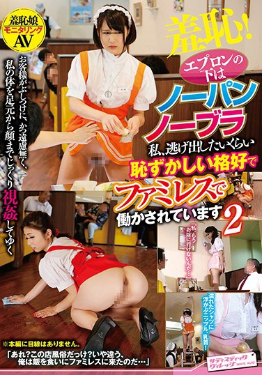 SVDVD-619 Shame! She's Buck Naked Underneath Her Apron I'm Being Forced To Work At This Restaurant In Such An Embarrassing Outfit That I Could Die Of Shame 2