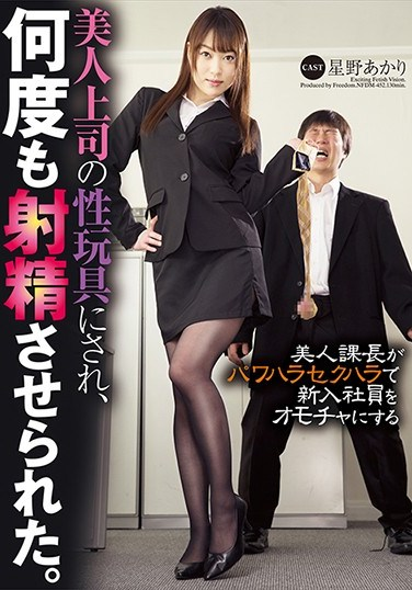 NFDM-452 My Beautiful Boss Treats Me As Her Sex Toy And Made Me Cum Several Times. Akari Hoshino