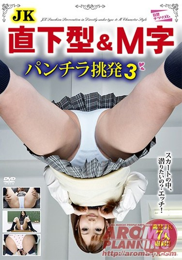 PARM-023 Schoolgirl Upskirt and Crouching Pantyflash Challenge 3