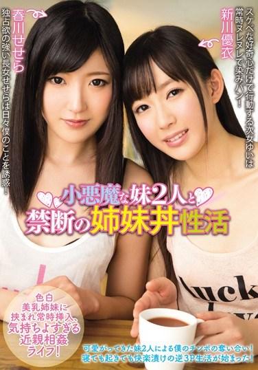 MIAD-914 The Forbidden Sister Sandwich With My 2 Little Devil Sisters Sesera Harukawa Yui Arakawa