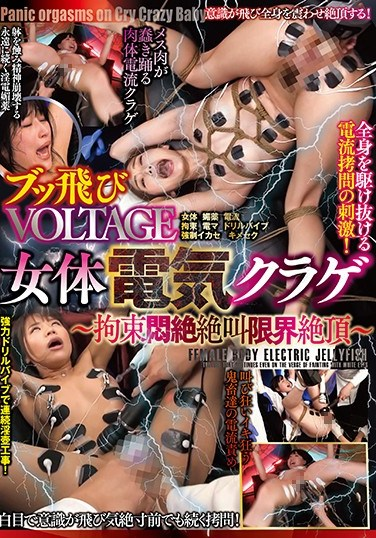 DONN-008 Flying Voltage Female Electrified Jellyfish ~ Discovering The Limits Of Tied Up Writhing, Screaming, And Climaxing ~